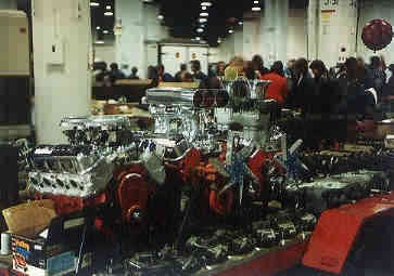 The early years - Racing Engines on display at Chevy/Vettefest in McCormick Center (Chicago Illinois)